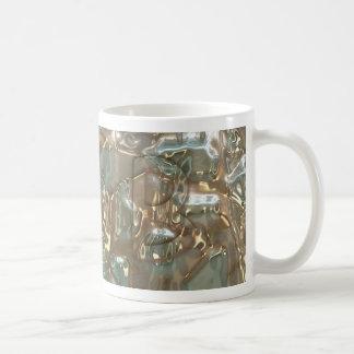 Abstract Crystal Pattern Monogram Mug