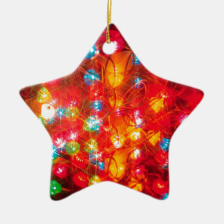 Abstract Crystal Reflect Coloured Ceramic Star Decoration
