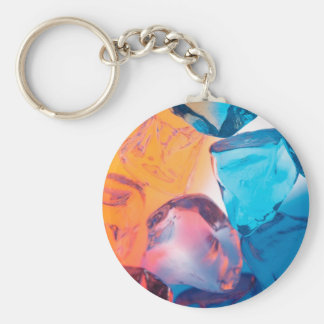 Abstract Crystal Reflect Cubes Key Chain