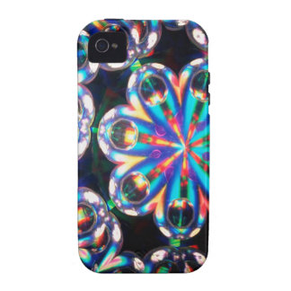 Abstract Crystal Reflect Eyes iPhone 4 Cases