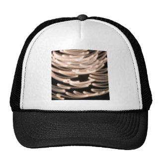 Abstract Crystal Reflect Feather Trucker Hats