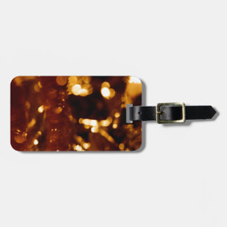 Abstract Crystal Reflect Gold Finger Bag Tag