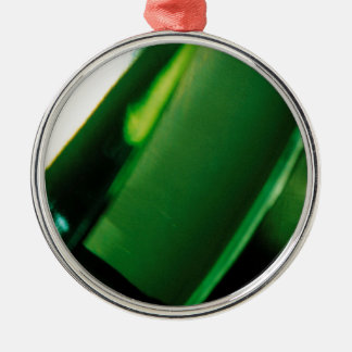 Abstract Crystal Reflect Green Fortune Christmas Tree Ornament