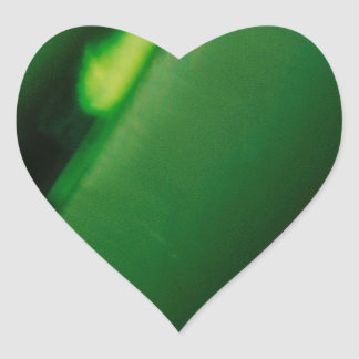 Abstract Crystal Reflect Green Fortune Heart Sticker