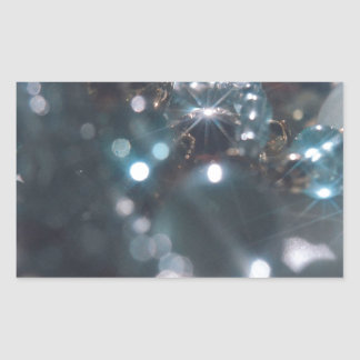 Abstract Crystal Reflect Jewelry Rectangular Sticker