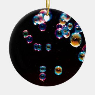 Abstract Crystal Reflect Rain Round Ceramic Decoration