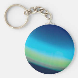 Abstract Crystal Reflect Seabed Basic Round Button Key Ring