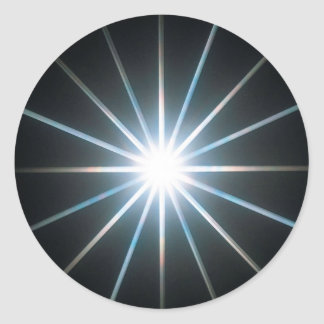 Abstract Crystal Reflect Star Classic Round Sticker