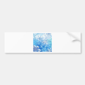 Abstract Crystals Blue Ice Bumper Sticker