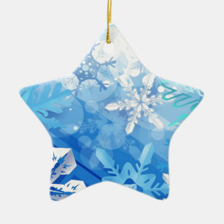 Abstract Crystals Blue Ice Ceramic Star Decoration