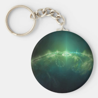 Abstract Crystals Green Globe Key Ring