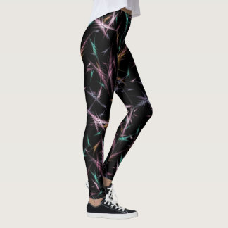 Abstract Crystals of Light Leggings