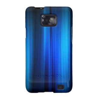 Abstract Crystals Stretched Blue Bars Samsung Galaxy S2 Covers