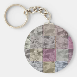 Abstract Cubes in Quiet Pastel Colors Key Chain