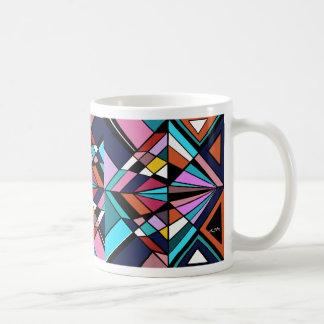 abstract cup basic white mug