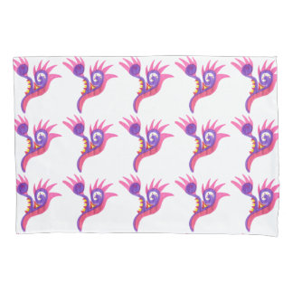 Abstract Curl and Spike Pillowcase