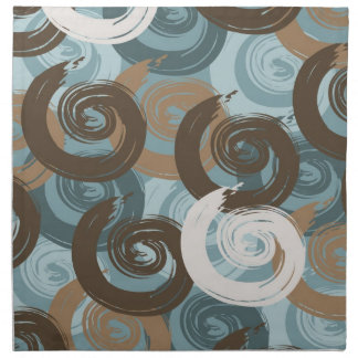 Abstract Curls Teal Napkin