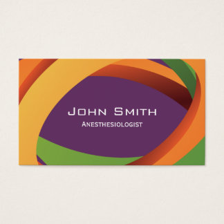 Abstract Curves Anesthesiologist Business Card