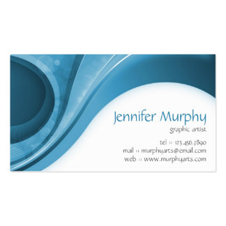 Abstract Curves - Blue Business Card Templates