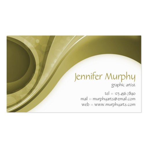 Abstract Curves - Bronze Business Card Template