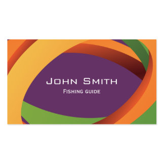 Abstract Curves Fishing Guide Business Card