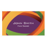 Abstract Curves Piano Teacher Business Card