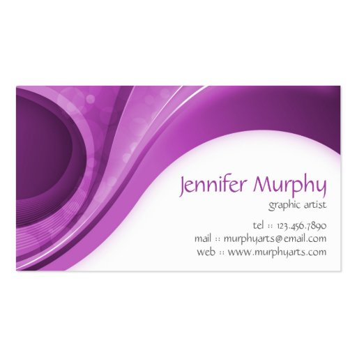 Abstract Curves - Purple Business Cards