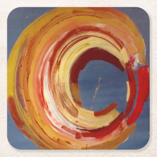 Abstract Custom Square Coasters - Art by Brocky
