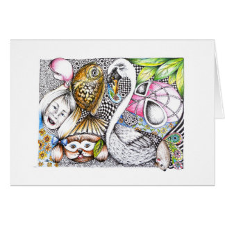 abstract cycle of life greeting card