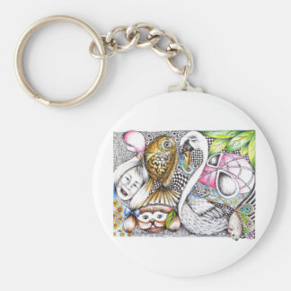 abstract cycle of life key chain