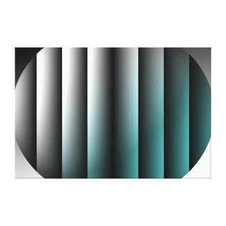 Abstract Cylinders in an Oval Canvas Print