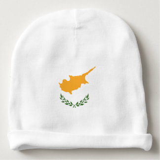 Abstract Cyprus Flag, Cypriot Colors Baby Hat Baby Beanie