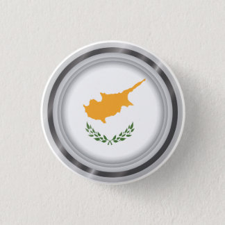 Abstract Cyprus Flag, Cypriot Colors Button
