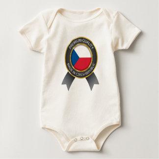 Abstract Czech Republic Flag, Czech Colors Cloth Baby Bodysuit