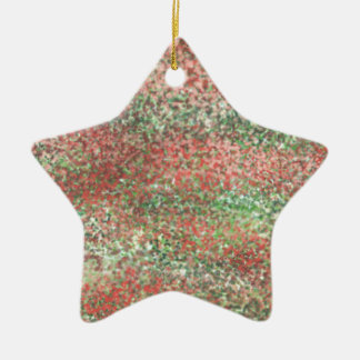 Abstract D Ceramic Star Decoration