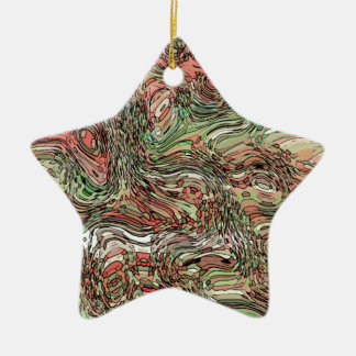 Abstract D v4 Ceramic Star Decoration