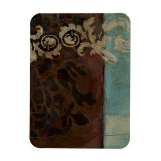 Abstract Damask Tapestry by Jennifer Goldberger Rectangular Magnet