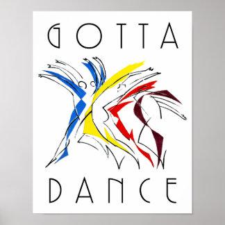 Abstract Dancers Dancing - Gotta Dance Poster