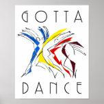 Abstract Dancers - Gotta Dance Poster