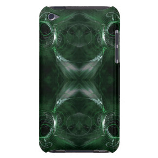 Abstract, Dark Green Fractal Pern. Case-Mate iPod Touch Case