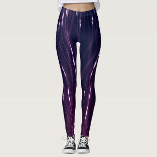 Abstract Dark Purple Leggings