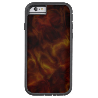 Abstract Dark Red and Gold iPhone Tough Case