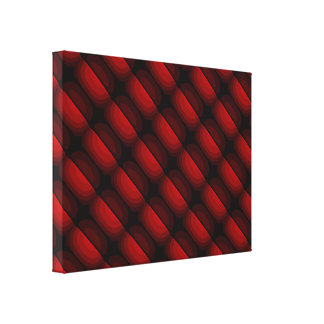 """Abstract Dark Red Design Small 24.00"""" x 18.00"""" Canvas Print"""