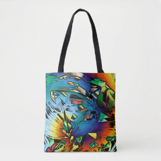 Abstract Decorative Tote