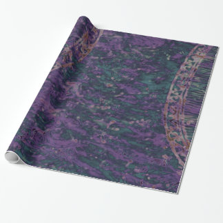Abstract Deep Purple Batik Gift Wrap Wrapping Paper