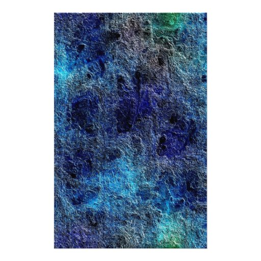 Abstract Deep Rich Jewel Colors Blue Stationery