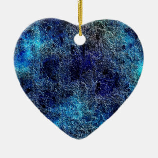 Abstract Deep Rich Jewel Colors Heart Ornament