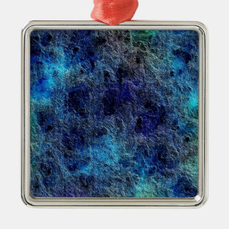 Abstract Deep Rich Jewel Colors Square Ornament