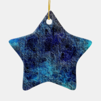 Abstract Deep Rich Jewel Colors Star Ornament