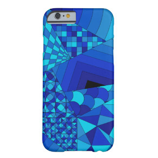 Abstract Design 1 Blue Barely There iPhone 6 Case